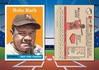 1958 Topps Style BABE RUTH Custom Artist Novelty Baseball Card