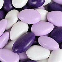 Jordan Almonds by Its Delish (Lavender, Purple and White, 2 lbs)