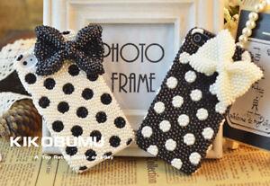 Bling Pearls polka dots crystal cute Phone Case Cover Various Phone Custom Case