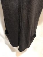 Eileen Fisher Womens M Brown Wool Cashmere Blend Long Cardigan Sweater S/S Brown