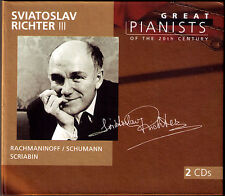 Sviatoslav Richter 3 Great Pianists of the 20th Century 2cd Rachmaninov Scriabin