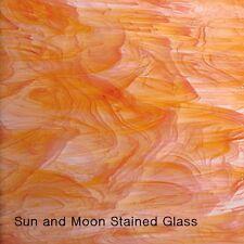 "8 X10"" Spectrum Glass Sheet S 375-1 - Orange / White Stained Glass Sheet"