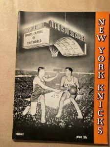 NBA New York Knicks 1960-61 Press Guide Media Guide Yearbook