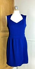 Girls On Film Cobalt Blue Dress - Size 14 Shift Faux Wrap Work Evening