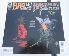 Hellboy Baltimore the Curse Bells 1 3 Signed Mike Mignola VF/NM Condition