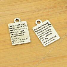 20pc Charms Word tags Pendant Beads Crafts Tibetan Silver Accessories S693S