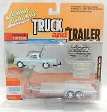 Johnny Lightning *Truck & Trailer 4B* Blue 1964 Ranchero w/Car Trailer *Nip*