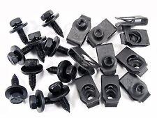 Chevy Body Bolts & U-Nuts- M6-1.0mm Thread- 10mm Hex- Qty.10 ea.- #140