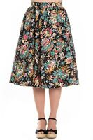 Hell Bunny Monte Carlo Casino Palm Trees Tropical Vintage Retro 50s Flare Skirt