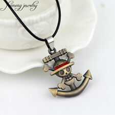 feimeng jewelry Japanese Anime One Piece Necklace Pirate Luffy Anchor Skull