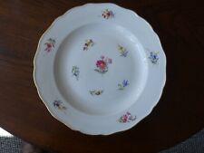 Antique / Vintage Meissen Strewn Flowers Porcelain Plate