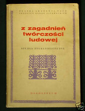 BOOK Polish Folk Culture folklore song music poetry Poland research journal 1972