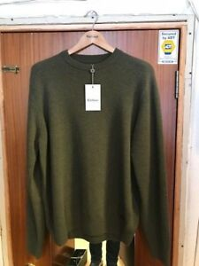 Barbour Mens Nelson 100% Lambswool Crew Neck Sweater BNWT