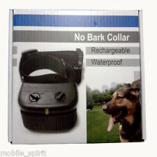 Rechargeable Dog Training Shock Collar No Bark Collar Anti Bark Barking Black