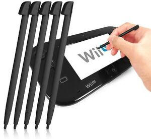 5 PACK OF BLACK STYLUS PENS FOR NINTENDO Wii U