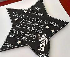 Handmade personalised star wars themed thank you teacher star...gift, keepsake