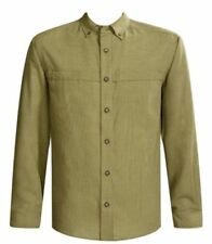 Rayon Long Sleeve Button-Front Casual Shirts for Men