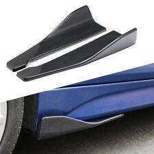 Glossy Carbon Fiber Car Side Skirt Extension Splitters Winglet Diffuser Rear Lip