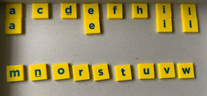 21 x Letter Replacement Tiles for Junior Scrabble. See pic & text for letters &