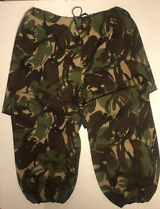 Genuine British Army DPM Combat GoreTex Elasticated Waterproof Trousers Size XL