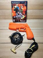 Time Crisis 3 Playstation 2 Light Gun Video Game with Guncon 2 NPC-106 Tested