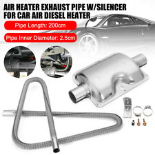 2M Stainless Steel Exhaust Pipe & 24mm Silencer Muffer Parking Air Diesel Heater