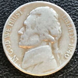 USA 1940 Jefferson Nickel 5 Cent Philadelphia Selten #14523