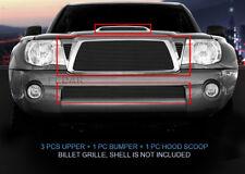 Black Billet Grille Combo For Toyota Tacoma TRD Sport 2005-2010 2006 2007