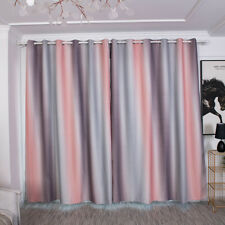 Window Treatment Voile Valance Panel Stylish Stripe Color Matching Curtain B