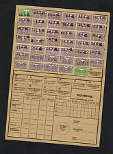 1941 Germany Berlin Police Man Insurance Registration CArd with Revenue Stamps
