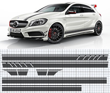 Mercedes-Benz W176 A-Class AMG Side,roof,bonnet stripe set EDITION 1 style (A45)