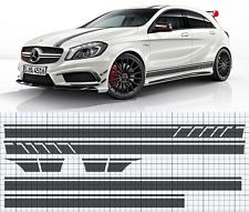 Mercedes-Benz W176 A-Class AMG Side,roof,bonnet stripe set EDITION 1 style (A45)