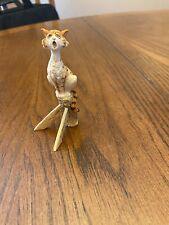 Schmid Lowell Davis Cat Figurine Singing, Fence Post