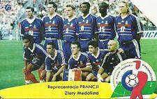 RARE / CARTE TELEPHONIQUE - FOOTBALL MONDIAL FRANCE 98 ZIDANE BLANC BARTHEZ DECH