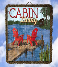 Lake 22 River Cabin Living Wall Srt  Gifts Lake Decor Art Prints lalarry framed