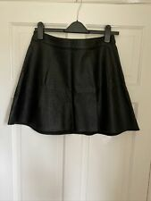 H&M Faux Leather High Waisted Skirt Size 10