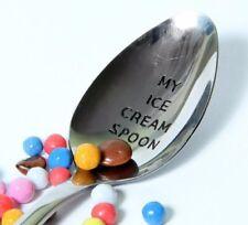 My Ice Cream Spoon, Ice Cream Lovers Spoon, Personalized Spoon, Memorable Gift