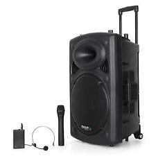 "IBIZA PORT 15VHF-BT ALTAVOZ 38CM 15"" 800W USB SD MP3 BLUETOOTH MICRO MANDO"