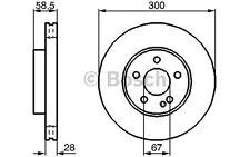 BOSCH Disco de freno (x2) 300mm ventilado MERCEDES-BENZ VITO VIANO 0 986 479 137