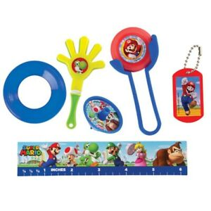 Super Mario Brothers Nintendo Wii Party Favor Pack Boys Birthday Supplies 48 pcs