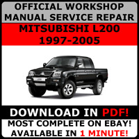 # OFFICIAL WORKSHOP Service Repair MANUAL for MITSUBISHI L200 1997-2005
