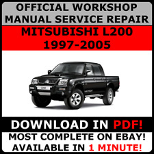 # OFFICIAL WORKSHOP Service Repair MANUAL for MITSUBISHI L200 1997-2005