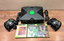 Microsoft Xbox PAL Spielekonsole - inkl. 2 Controllern und 3 Spielen