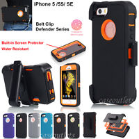 New Cover Heavy Duty Shockproof Case (Belt Clip fits) for Apple iPhone 5 5S/SE