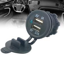 DC 12V/24V Dual USB Power Motorcycle Car Cigarette Lighter Charger Socket PlugSP