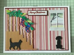 Christmas Staircase And Window Die Cuts Card Toppers