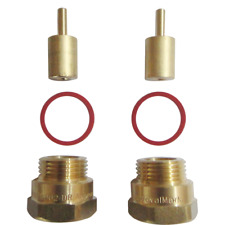 Kinetic Wall Tap Spindle Extender 2Pieces, Brass Material, Hot & Cold