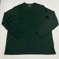 Croft & Barrow T Shirt Men's Size 2XLT Long Sleeve Green Crewneck Easy Care