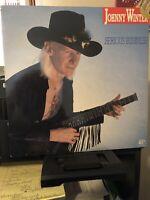 "JOHNNY WINTER SERIOUS BUSINESS 1985 ROCK 12"" LP VINYL ALBUM RECORD"