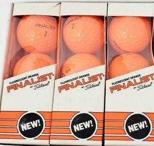 Titleist Finalist golf balls Fluorescent Orange Genuine Authentic - 9 Balls